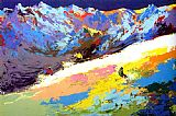 Leroy Neiman High Altitude Skiing painting